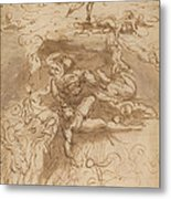 The Fall Of The Rebel Angels [recto] Metal Print