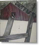 The Falling Down Shed Metal Print