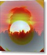 The Falling Sun  Metal Print