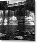 The Falls In Black And White Metal Print