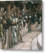 The False Witness Metal Print by Tissot