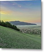 The Far Mountain Metal Print