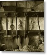 The Farmer's Toolshed Metal Print
