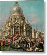 The Feast Of The Madonna Della Salute In Venice Metal Print