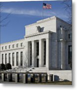 The Federal Reserve In Washington Dc Metal Print by Brendan Reals