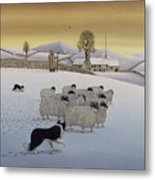 The Fells In Winter Metal Print