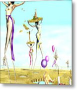 The Female Deity Sending Out Her Minions To Gather Male Religious Symbols One Metal Print