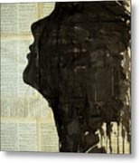 The Female Silhouette . Metal Print