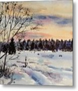 The Fields After Snow Metal Print