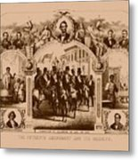 The Fifteenth Amendment And Its Results Metal Print