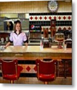 The Fifties Diner Metal Print