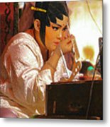 The Final Touch-chinese Opera Metal Print