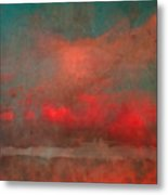 The Fire Clouds Metal Print
