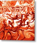 The Fire Dance Down Below Metal Print