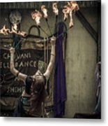 The Fire Dancer Metal Print