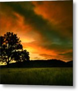 The Fire On The Skies Metal Print