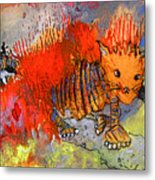 The Firecat Metal Print