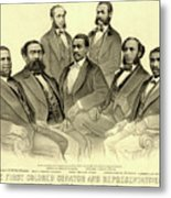 The First African American Senator And Representatives Metal Print
