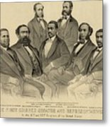 The First African American Senator Metal Print by Everett