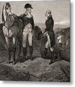 The First Meeting Of George Washington And Alexander Hamilton Metal Print