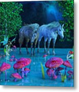 The First Time We Saw Horses Metal Print