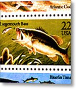The Fish Stamps Metal Print by Lanjee Chee
