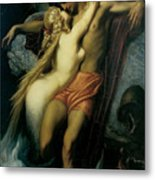 The Fisherman And The Syren Metal Print