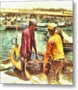 The Fishermen Metal Print