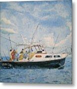 The Fishing Charter - Cape Cod Bay Metal Print