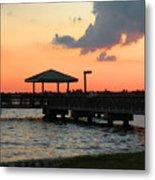The Fishing Dock At Sunset Metal Print