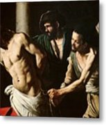 The Flagellation Of Christ Metal Print by Caravaggio