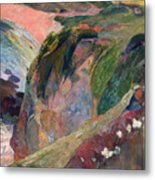 The Flageolet Player On The Cliff Metal Print