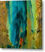 The Flair Of The Flame Abstract Metal Print