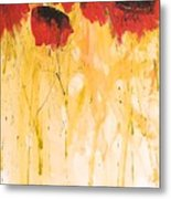 The Fleeting Nature Of Poppies Metal Print