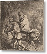 The Flight Into Egypt: Small Metal Print