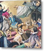 The Flight Of Father Dominic Metal Print by English School