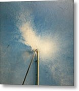 The Flight Of The White Dove Metal Print
