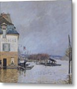 The Flood At Port Marly Metal Print