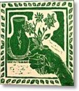 The Florist Metal Print by Caroline Street