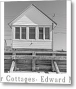 The Flower Cottages Trio Poster Metal Print