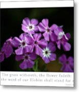 The Flower Fades Metal Print