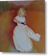The Flower Girl  Copyrighted Metal Print
