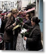 The Flower Seller Metal Print by Lori  Secouler-Beaudry