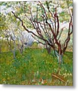 The Flowering Orchard Metal Print