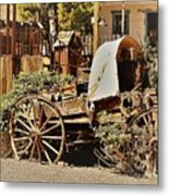 The Flowering Wagon Metal Print