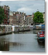 The Flowermarket Canal Metal Print