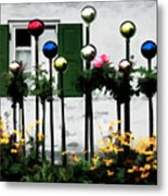 The Flowers And The Balls Metal Print