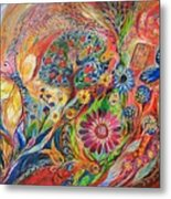 The Flowers And Trees Metal Print