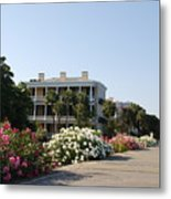 The Flowers At The Battery Charleston Sc Metal Print