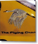 The Flying Crane Metal Print